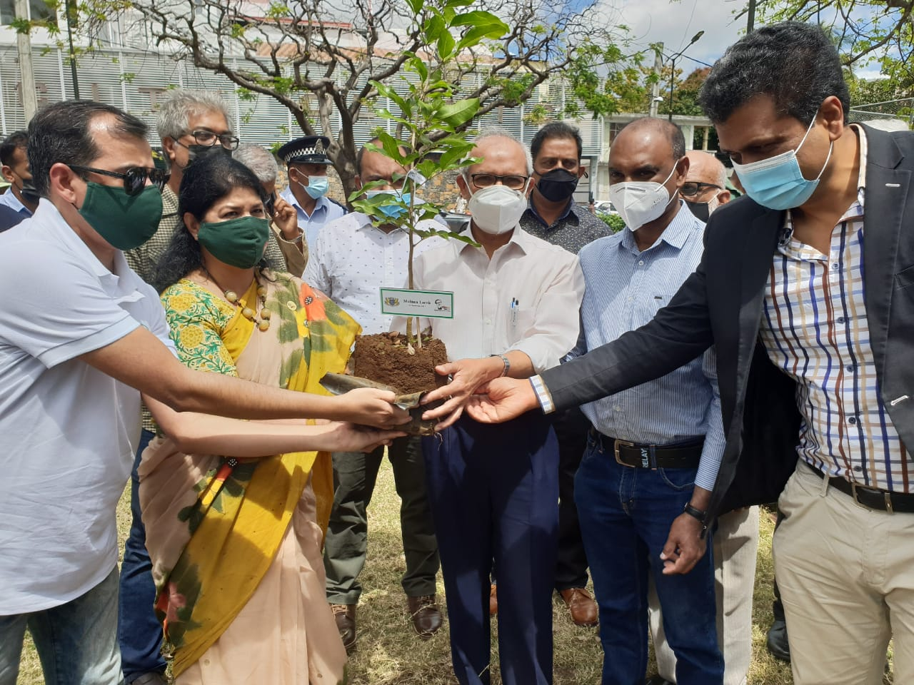 Plantation of 47 trees on the occasion of the 47th Anniversary of Bangabandhu's Historical Speech in Bangla